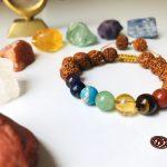 دستبند هفت چاکرا همراه رودراکشا اصل